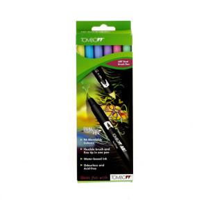 6 feutres ABT Dual Brush double pointe - Pastels
