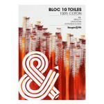 Bloc de toile 100% Coton 10 feuilles - 29,7 x 42 cm (A3)