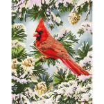 Kit tableau Strass Diamond Dotz Cardinal en hiver