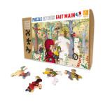 Puzzle en bois 24 pièces Rencontre en forêt