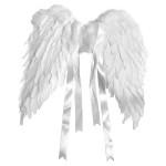 Ailes d'ange en plumes 50 x 40 cm Blanc