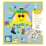 Pochette Créer avec des stickers Animaux marins