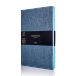 Carnet de notes ligné Harris 13 x 21 cm Bleu
