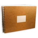 Carnet de voyage havane à spirale papier aquarelle 300 g/m² grain torchon - 21 x 29,7 cm (A4)