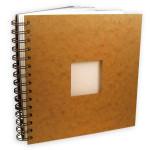 Carnet de voyage havane à spirale papier aquarelle 300 g/m² grain torchon - 20 x 20 cm