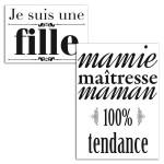 Transfert textile thermocollant 100% Tendance 15 x 21 cm