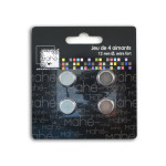 Aimants extra fort 12 mm - 4 pièces