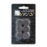 Aimants adhésifs 19 mm - 18 pièces