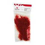 Plume duvetée 10-15cm sachet de 15 - Rouge brun