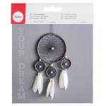 Attrape-rêve en Kit 17 x33 cm Blanc et Gris