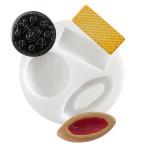 Moule en silicone  thème biscuit et gaufrette