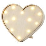 Boite en bois Lumineuse forme de Cœur 21 cm