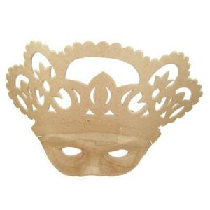 Masque reine en papier mâché - 10 x 26 x 21,5 cm