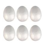 Œufs en polystyrène 7 x 4,5 cm - 6 pcs