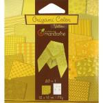 Pochette Origami Color - 12 x 12 cm -  Jaune