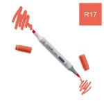 Marqueur à alcool double-pointe Ciao - R17 Rouge orange