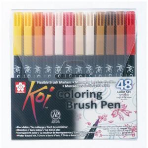 Feutre pinceau Koi Set 48 couleurs