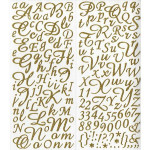 Alphabet Stickers pailletés - Or