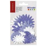 Fleur en papier Mauve 24 pcs