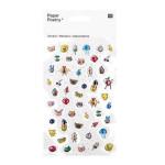 Stickers 3D Magical Summer Visage x 50 pcs