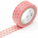 Masking tape fleurs stylisées rouge
