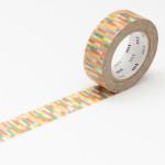 Masking tape motif bloc ton rouge