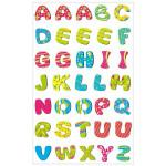 Autocollants relief Alphabet peps