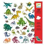 Planche d'autocollants Dinosaures 160 stickers