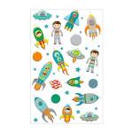 Stickers 3D Cooky fusées spatiales x 19