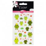 Stickers 3D Cooky thème grenouilles