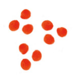 Pompons 7mm set de 70 - Orange