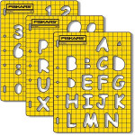 ShapeCutter template - Chiffres et lettres - 3 pcs