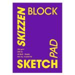 Bloc de papier à croquis 185 g/m² - 21 x 29,7 cm (A4)