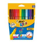 Feutre de coloriage Visa Pochette de 12 couleurs