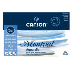 Bloc de papier aquarelle Montval 300 g/m² grain fin - 10 x 15 cm