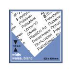 Plaque de plastique blanc. 50 x 40 cm ep. 1 mm