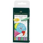 Feutre-pinceau Pitt couleurs pastels par 6