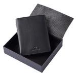 Portefeuille London en cuir Noir 12,5 x 9,5 cm
