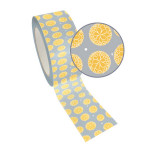 Ruban adhésif décoratif Queen Tape 48 mm x 8 m Pivoine jaune