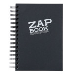 Bloc papier Zap Book spiralé grand côté 160 feuilles 80g/m² A5 Noir