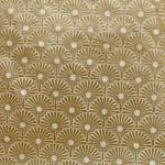 Papier Lokta Précieux  50 x 75 cm Kahori ivoire et or