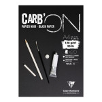 Bloc croquis Carb'On Papier noir 120 g/m² - 20 Fles - 14,8 x 21 cm (A5)
