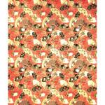 Papier Japonais 52 x 65,5 cm 100 g/m² Éventails dorés sur Rouge