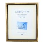 Cadre vitrine Carla Noir/Bronze Or + Passe-partout - 24 x 30 cm