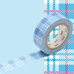 Masking Tape 1P Tartan écossais bleu 15 mm x 10 m