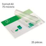 Pochette de plastification A3 75 microns Brillante 25 pcs