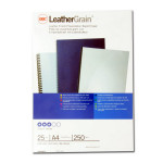 Plat de couverture Grain cuir A4 250 g/m² Blanc 25 pcs