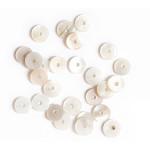 Perle rondelle Heishi 6 mm Nacre véritable