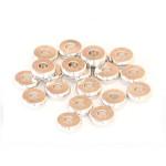 Perle rondelle intercalaire Heishi 6 x 2 mm Laiton agenté