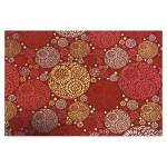 Papier indien 50 x 70 cm 120 g/m² Dollop Rouge Rose Or & Argent